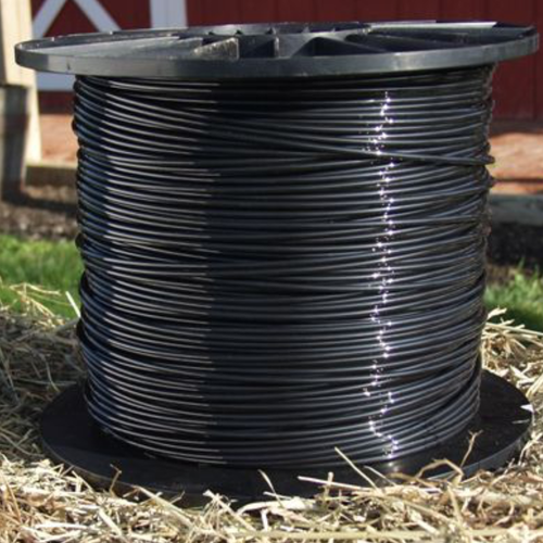 Black Polyamide cable Horse Fence or Vineyard trellising.