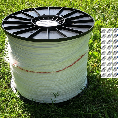 Horse Fence Kit with 20 Large Gripples and white tape.