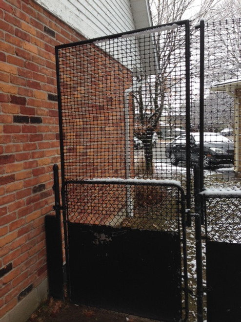 Chain Link Fence gate converted to deer fence gate