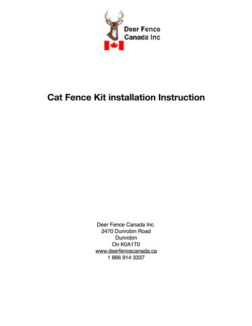 Cat Fence Kit and Cat fence gate installation