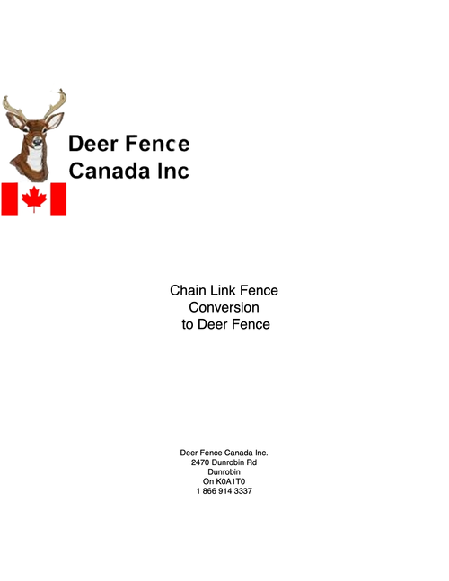 Instructions for converting a chain link fence to Deer Fence