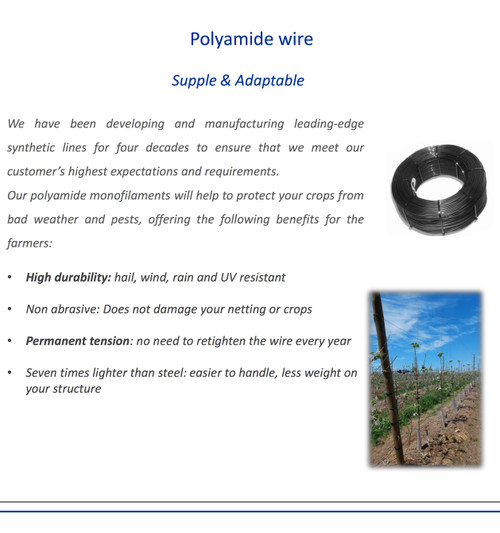 Polyamide Cable v Steel Wire
