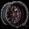 22 x 8.25 Fuel Triton D656 Black Red