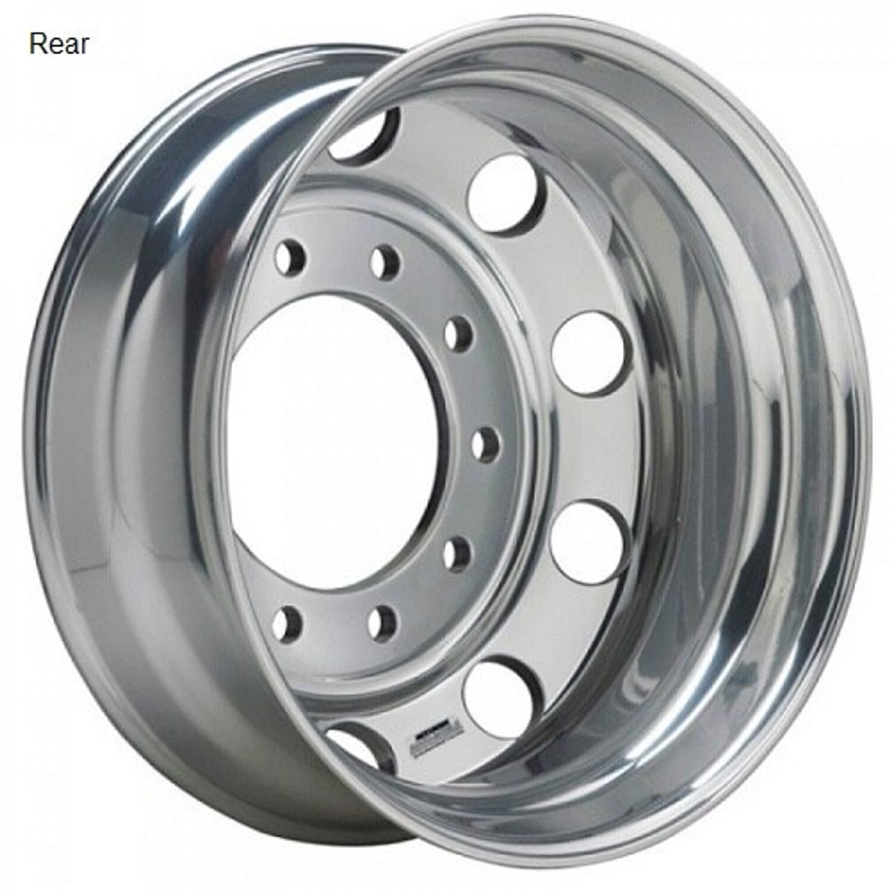 22.5 x 8.25 Accuride Classic Polished Rear
