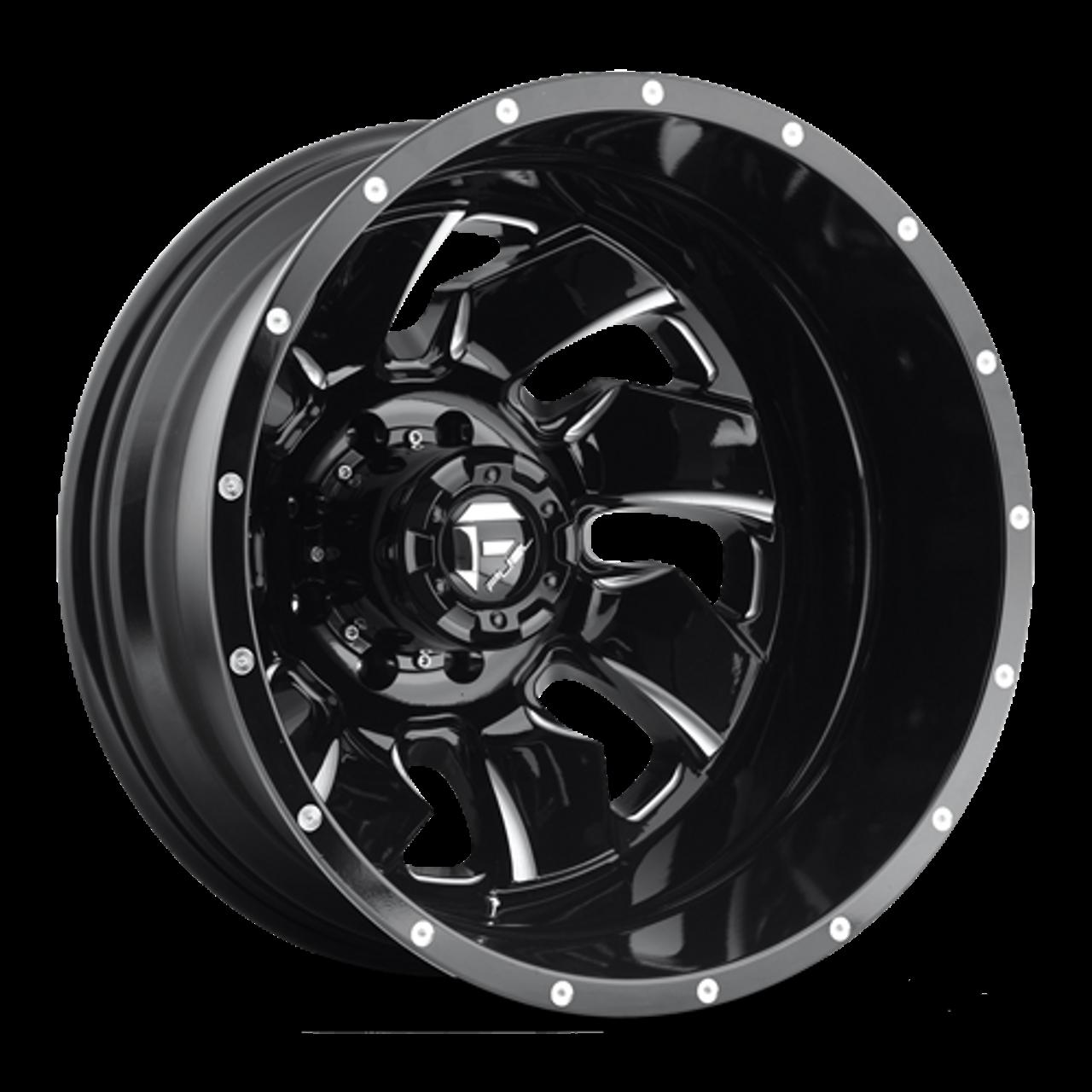 22 x 8.25 Fuel Cleaver D574 Black Machined