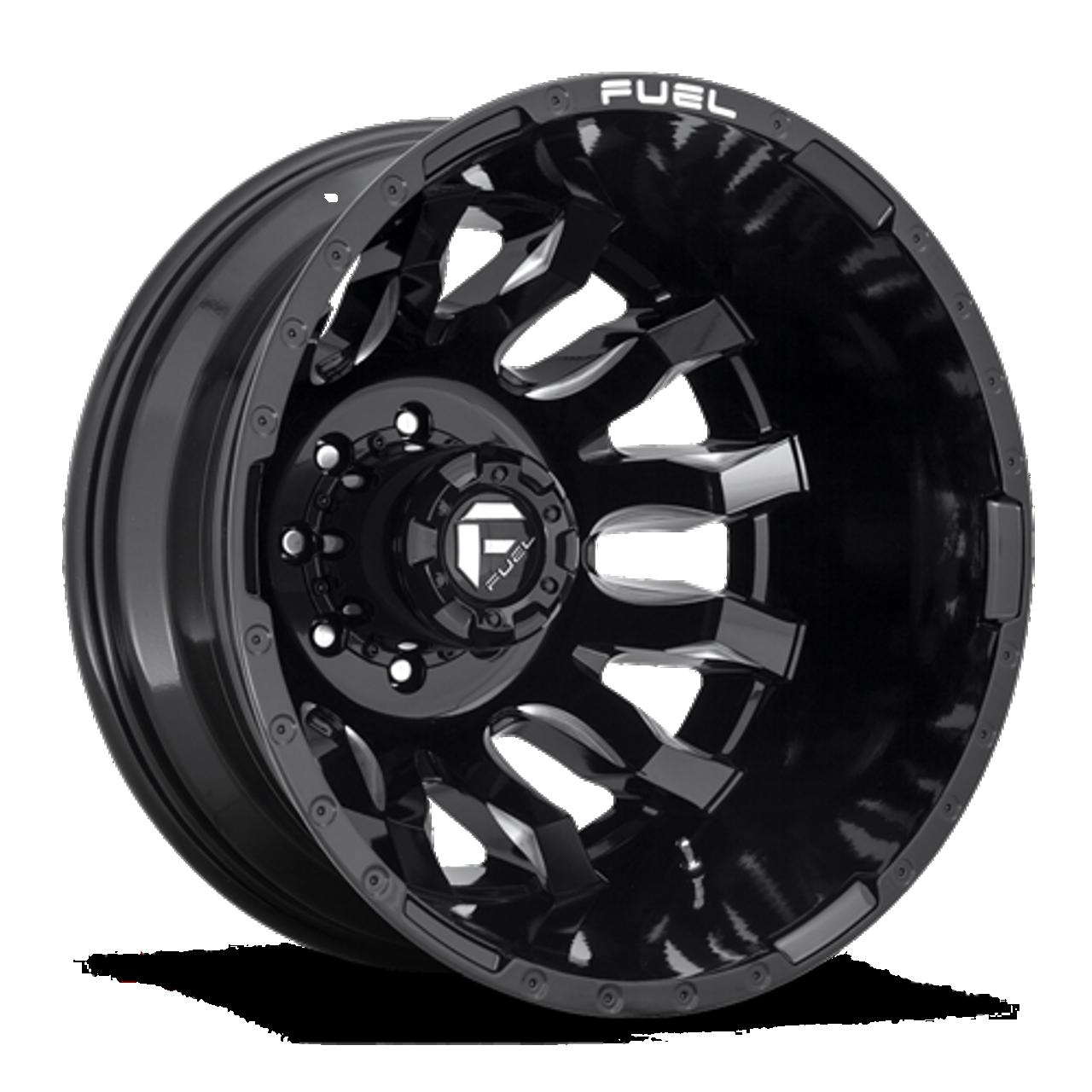 22 x 8.25 Fuel Blitz D673 Black Machined