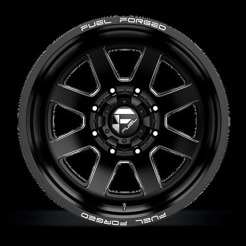 20 x 8.25 Fuel FF09D Black/Machined Rear 8 Lug