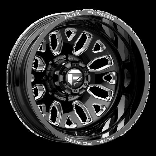 20 x 8.25 Fuel FF19D Black/Machined Rear 8 Lug