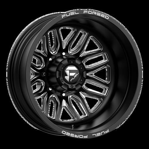 20 x 8.25 Fuel FF66D Black/Machined Rear 8 Lug