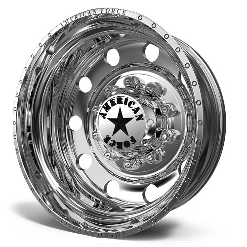 22.5 x 8.25 American Force 1 Classic Polished Rear