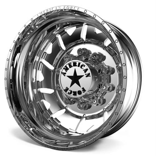 22.5 x 8.25 American Force F90 Menace Polished Rear