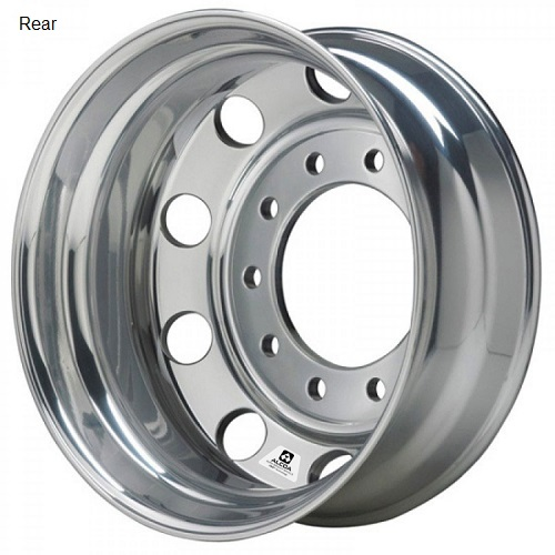 22 x 8.25 Alcoa Milled Classic Polished Rear