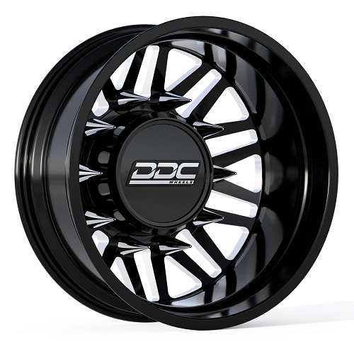 22 x 8.25 DDC Wheels Aftermath Black/Machined Rear