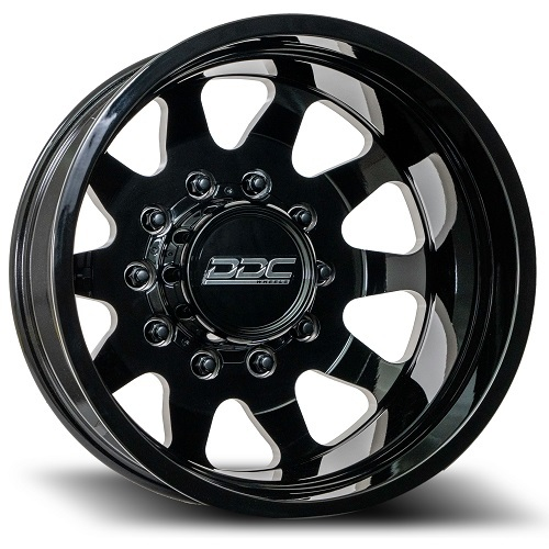 20 x 8.25 DDC Wheels The Ten Black Rear