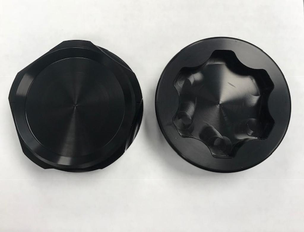 Bean Machine Cummins Anodized Push On Oil Cap Cover - Round