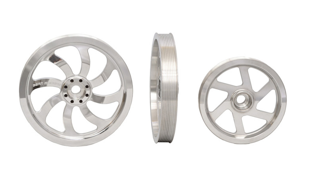 Bean Machine Cummins Triple CP3 Kit Includes (2) 10 Inch Pulleys, Idler Pulley-(No Pumps)