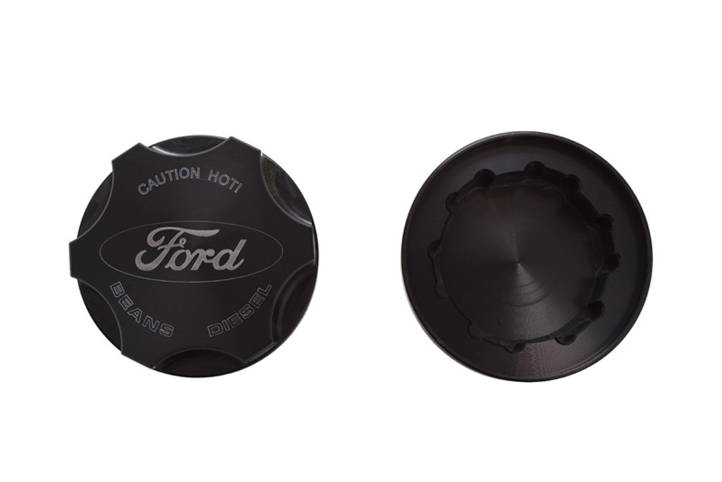 Bean Machine Ford Power Stroke Anodized Push On Radiator Cap Cover - Round