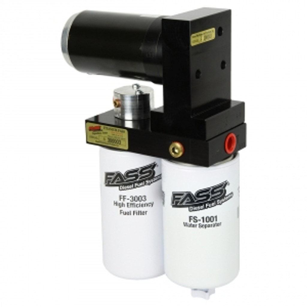 FASS Titanium Signature Series Diesel Fuel Lift Pump 240GPH@45PSI Dodge Cummins 5.9L 1994-1998 with Beans Multifunction Sump Kit