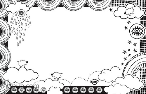 Awesome Town Coloring Poster Book: 16 Fun & Quirky Designs