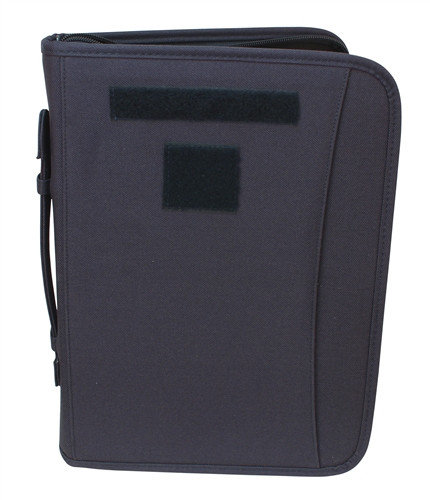 Navy Blue Zippered 3 Ring Binder And Padfolio