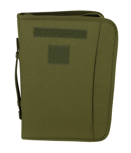 Olive Drab Zippered 3 Ring Binder And Padfolio