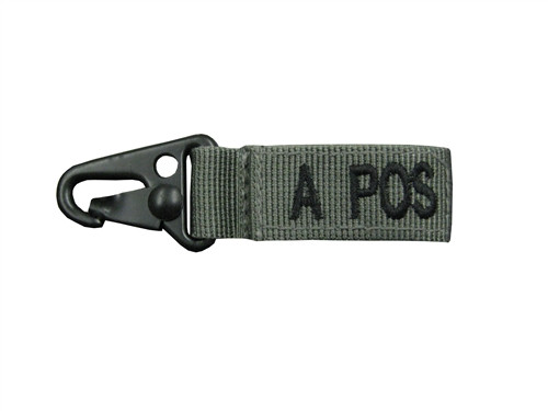 Set Of 2 Foliage Green Blood Type Tags (A Positive)