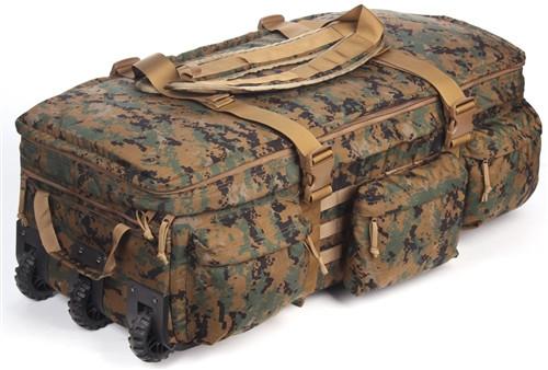 Digital Woodland Marpat Extra Large Rolling Loadout Bag By S.O.C.