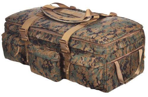 Digital Woodland Marpat Extra Large Rolling Loadout Bag By S.O.C.