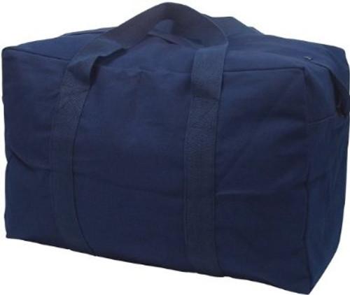 Navy Blue Canvas Parachute Cargo Bag