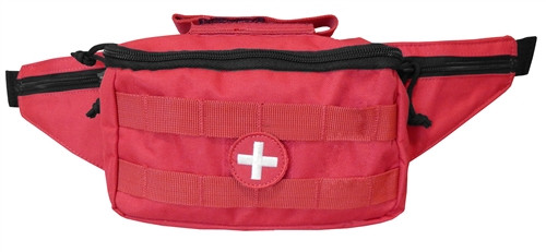 Red Medical Fanny Pack By Voodoo Tactical