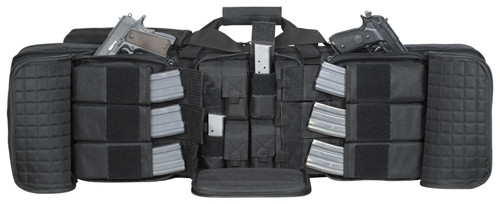 """Black Deluxe 42"""" Padded Weapons Case"""