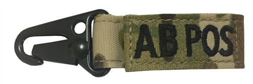 Set Of 2 Multicam OCP Blood Type Tags For AB Positive