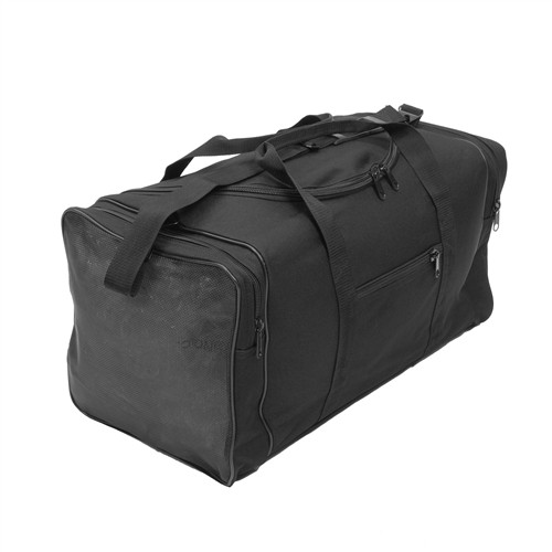 Black Large Square Duffle