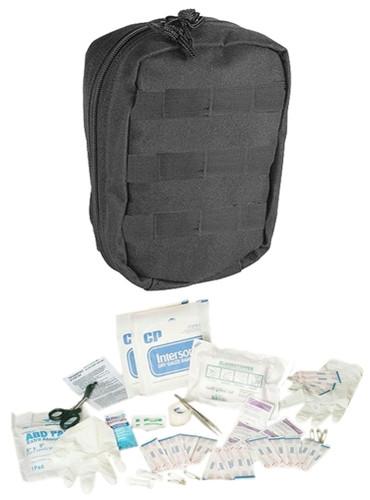 Black Fully Stocked Tactical Trauma Kit