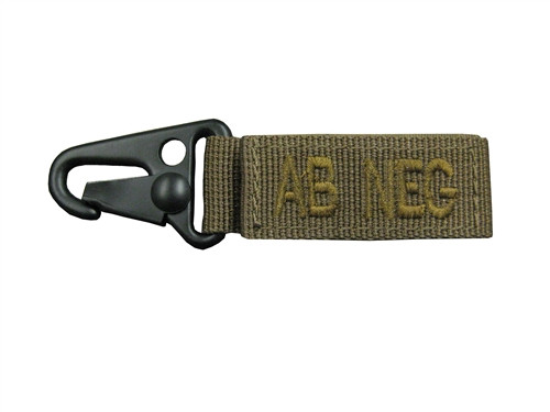 """Set Of 2 Coyote 4.5"""" Blood Type Tags (AB Negative)"""