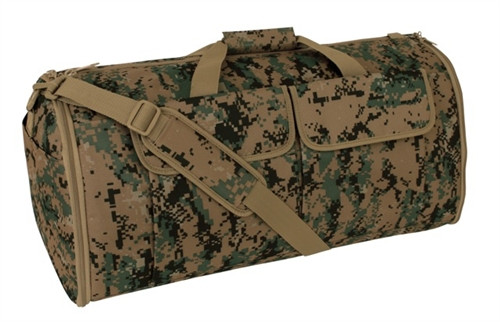 Digital Woodland Hybrid Garment & Duffle Bag