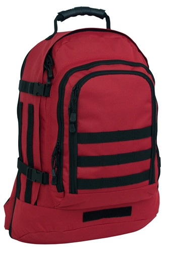 Red Three Day Stretch Backpack