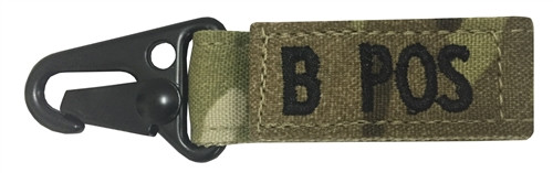 Set Of 2 Multicam OCP Blood Type Tags For B Positive