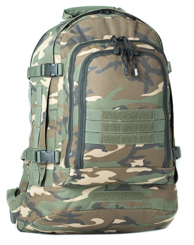 Woodland Camo 3 Day Stretch Backpack