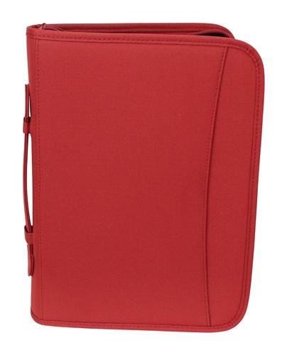 Red Zippered 3 Ring Binder And Padfolio