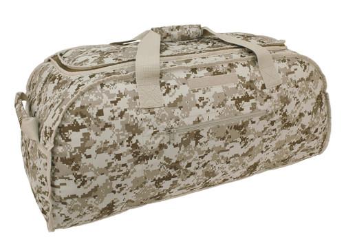 Digital Desert & Woodland Two In One:  Reversible Giant Duffle Bag