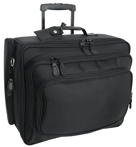 Black Wheeled Laptop Computer Case
