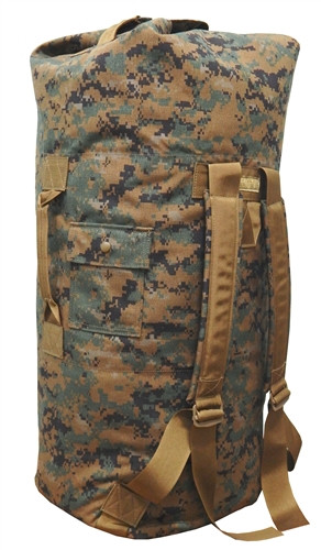 Digital Woodland Top Loading Military Duffle Bag