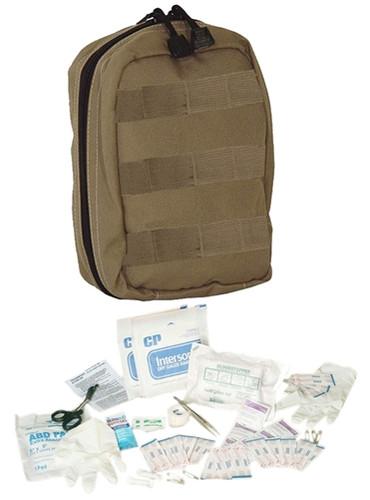 Coyote Fully Stocked Tactical Trauma Kit