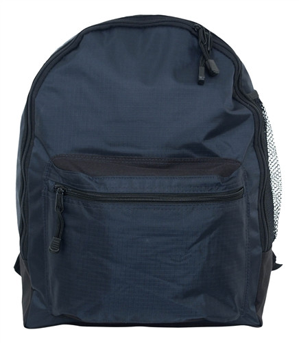 Navy Blue Simple Backpack