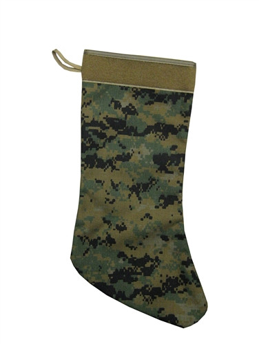 Digital Woodland Christmas Stocking