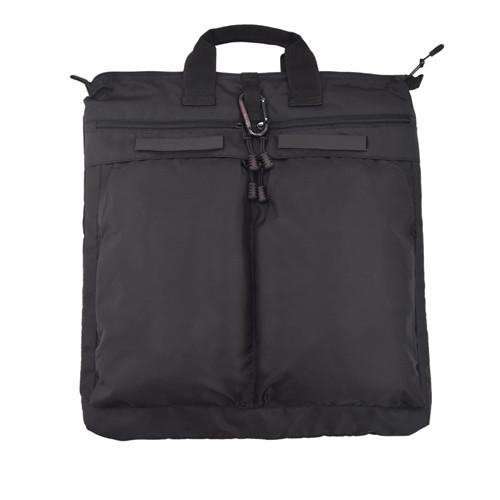 Black Laptop Backpack & Helmet Bag