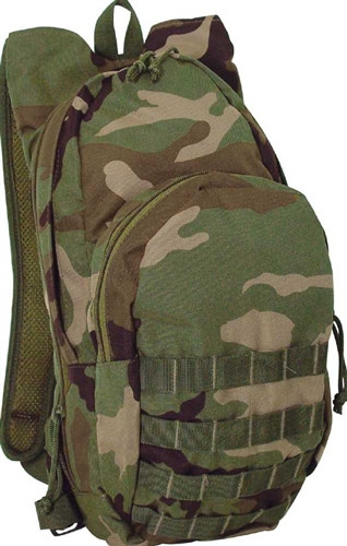 Woodland Camo MSP-3 Expandable Hydration Pack