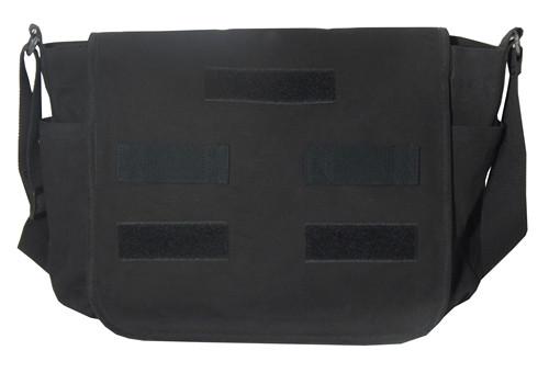 Black Classic Canvas Military Messenger Bag