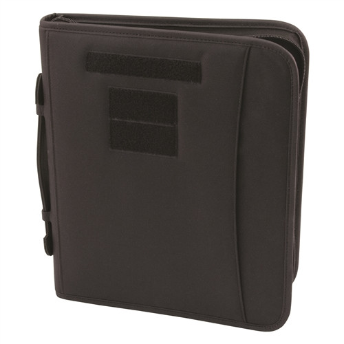 Black Field Ready Zippered 3 Ring Binder And Padfolio